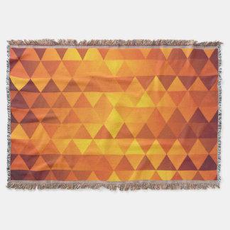 金ゴールドの秋は三角形パターンにある調子を与えます スローブランケット