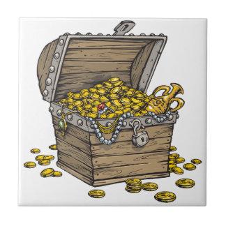 金ゴールドの箱 タイル