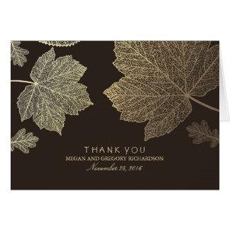 金ゴールドの紅葉の結婚は感謝していしています カード