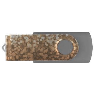 金ゴールドの紅葉の迷彩柄のカムフラージュ USBフラッシュドライブ