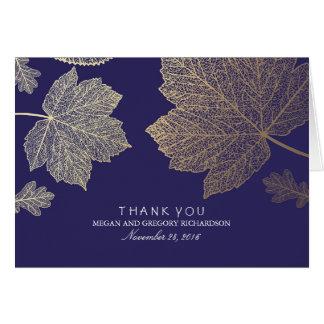 金ゴールドの紅葉海軍結婚式は感謝していしています カード