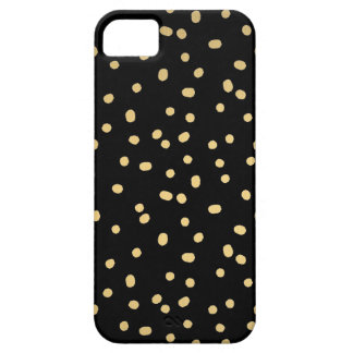 金ゴールドの紙吹雪の点 iPhone SE/5/5s ケース