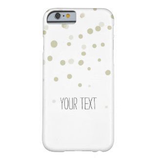 金ゴールドの紙吹雪 BARELY THERE iPhone 6 ケース
