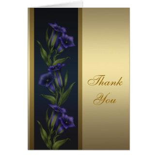 金ゴールドの紫色のクリスタル・バイオレットの金ゴールドのサンキューカード カード