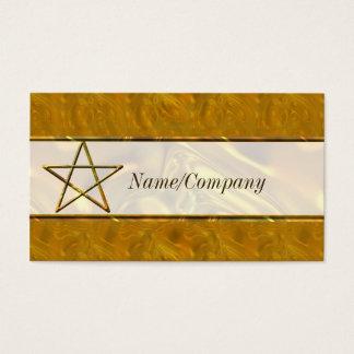 金ゴールドの紹介カードの星形五角形 名刺