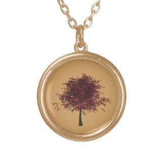 金ゴールドの終わりのスモモの木のネックレス ゴールドプレートネックレス