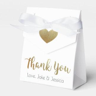 金ゴールドの結婚式の引き出物箱は感謝していしています フェイバーボックス