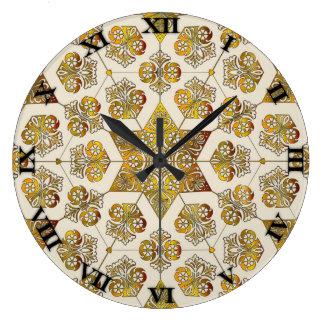 金ゴールドの線条細工の時計- #3 ラージ壁時計
