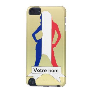 金ゴールドの背景のフランスのな女の子 iPod TOUCH 5G ケース