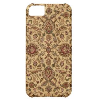 金ゴールドの花のアラベスクのオリエンタルのtapastery iPhone5Cケース