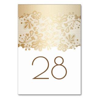 金ゴールドの花のレースの白い結婚式 カード