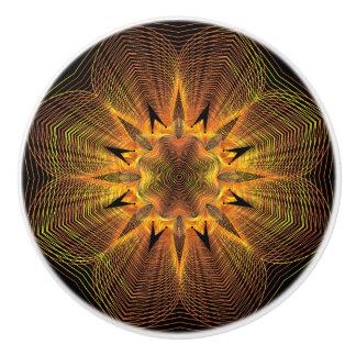 金ゴールドの花の陶磁器のノブ セラミックノブ