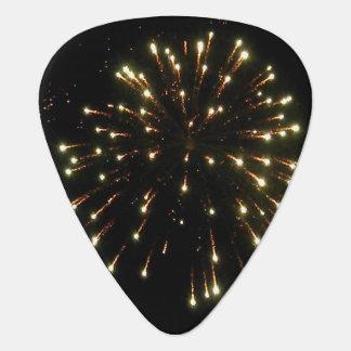 金ゴールドの花火の破烈 ギターピック