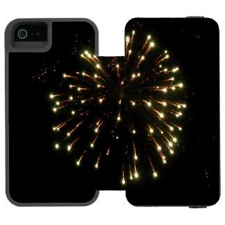 金ゴールドの花火の破烈 INCIPIO WATSON™ iPhone 5 財布 ケース