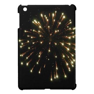 金ゴールドの花火の破烈 iPad MINIカバー