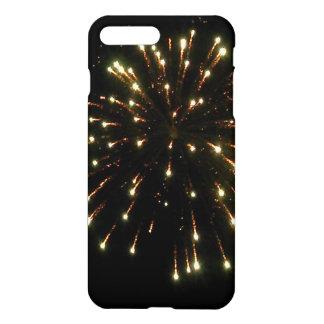 金ゴールドの花火の破烈 iPhone 7 PLUSケース