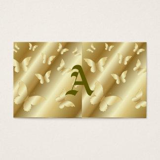 金ゴールドの蝶、の、テンプレート王室のな照ること金、 名刺