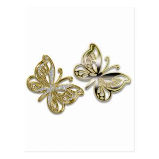 金ゴールドの蝶 ポストカード