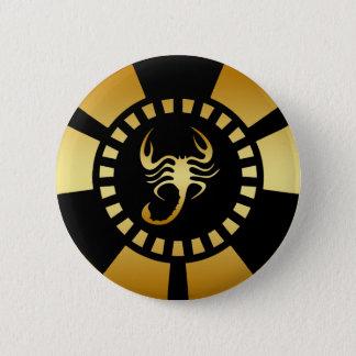 金ゴールドの蠍のポーカー用のチップ 缶バッジ