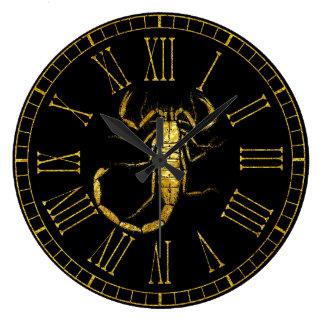 金ゴールドの蠍 ラージ壁時計