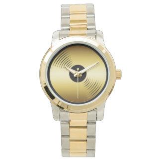 金ゴールドの記録腕時計 腕時計