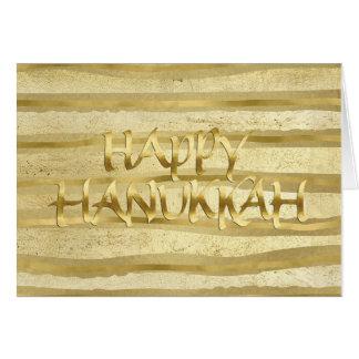 金ゴールドの調子のストライプなハヌカーカード カード