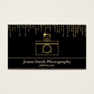 金ゴールドの輝きのカメラのカメラマン 名刺