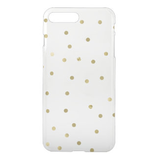 金ゴールドの輝きの紙吹雪 iPhone 8 PLUS/7 PLUS ケース