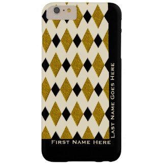 金ゴールドの道化師、黒、クリーム(名前入りな) スキニー iPhone 6 PLUS ケース