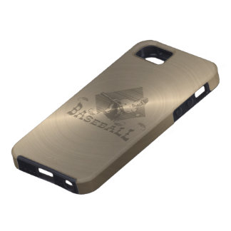 金ゴールドの野球 iPhone SE/5/5s ケース