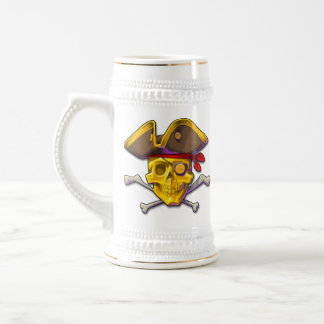 金ゴールドの金ゴールドのスカルステインを強打して下さい ビールジョッキ