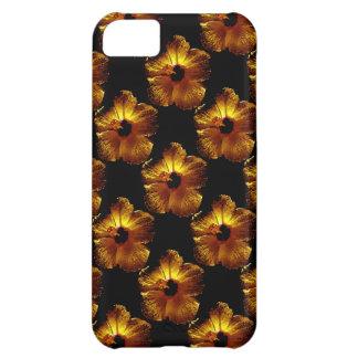 金ゴールドの金ハイビスカスの花 iPhone5Cケース