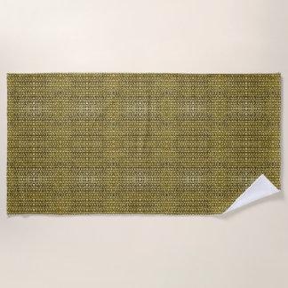 金ゴールドの金属のチェーン・メールの金属中世スタイル ビーチタオル