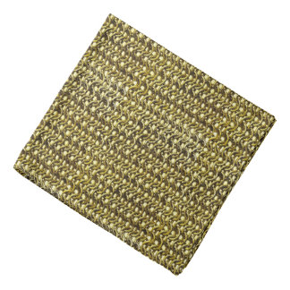 金ゴールドの金属のチェーン・メールの金属中世装甲 バンダナ