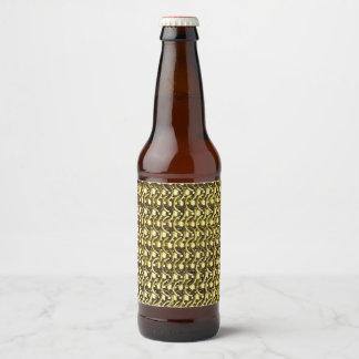 金ゴールドの金属のチェーン・メールの金属中世装甲 ビールラベル