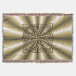 金ゴールドの金属ケルト結び目模様のオリジナルの芸術 スローブランケット