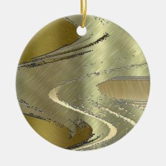 金ゴールドの金属デザイン セラミックオーナメント