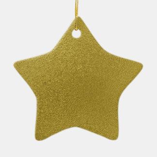 金ゴールドの金属パターン セラミックオーナメント