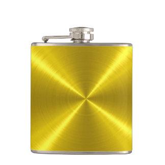金ゴールドの金属鋼鉄金属 フラスク