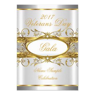 金ゴールドの銀製の白および金ゴールドのプラクのパーティー 12.7 X 17.8 インビテーションカード