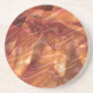金ゴールドの銅のダイヤモンドのばら色の花 コースター
