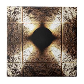 金ゴールドの錆ついた茶色の芸術の焼跡の煙の抽象芸術のアンティークJ タイル