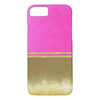 金ゴールドの錯覚のクールなiPhone 7の場合 iPhone 8/7ケース