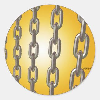 金ゴールドの鎖 ラウンドシール