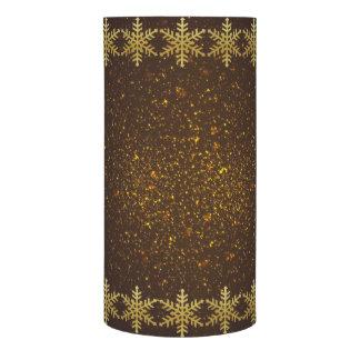 金ゴールドの雪片モカ金輝きLEDの蝋燭 LEDキャンドル