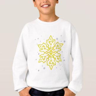 金ゴールドの雪片 スウェットシャツ