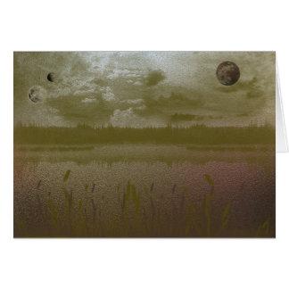 金ゴールドの霧深い惑星 カード