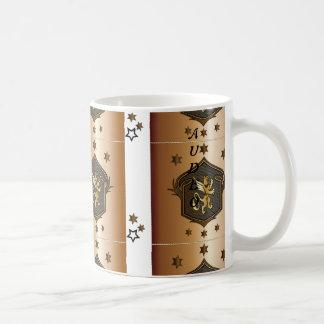 金ゴールドの頂上記念日はお祝いのマグを引き起こします コーヒーマグカップ