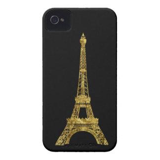 金ゴールドの魅力的なエッフェル塔 Case-Mate iPhone 4 ケース