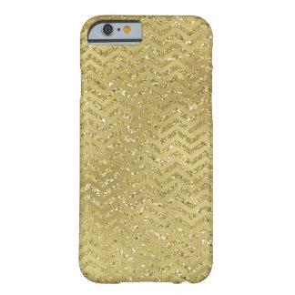 金ゴールドの魅力的なシェブロンのジグザグ形は縞で飾ります BARELY THERE iPhone 6 ケース